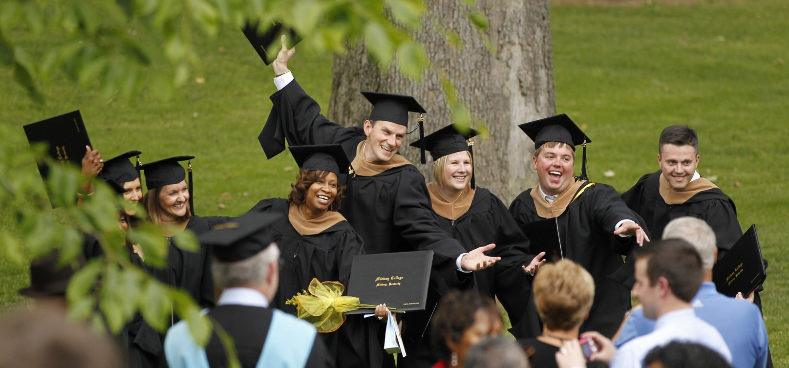 midway mba students celebrate at commencement