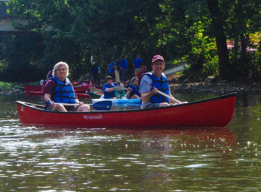 Environmental Club canoe trip with faculty and students.
