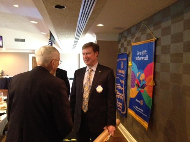 Dr. John Marsden, President, Midway University at Lexington Rotary