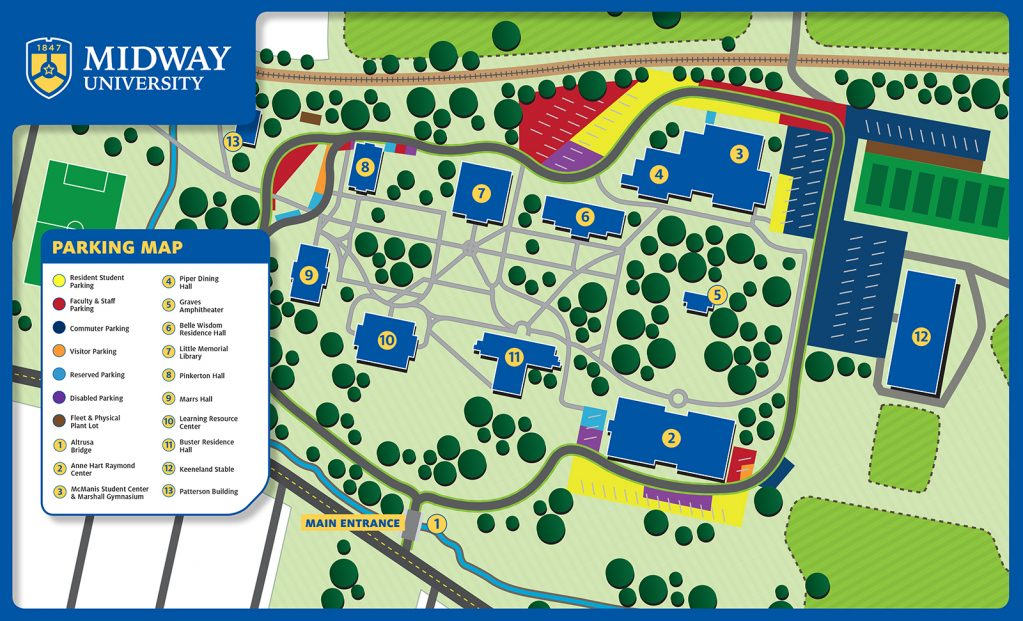 Midway University Parking Map