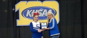 Cheer award presentation