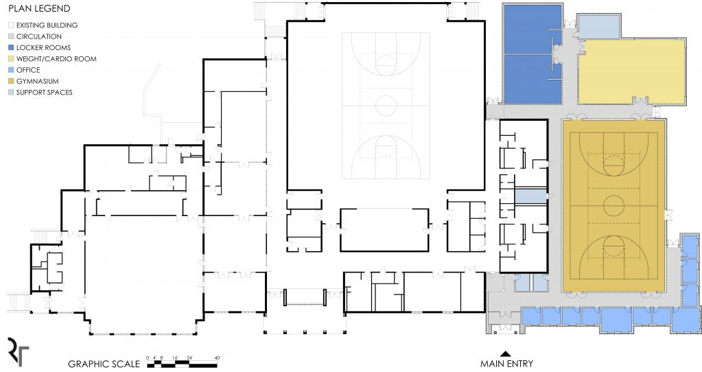 recreation complex student center expansion sample floor plan
