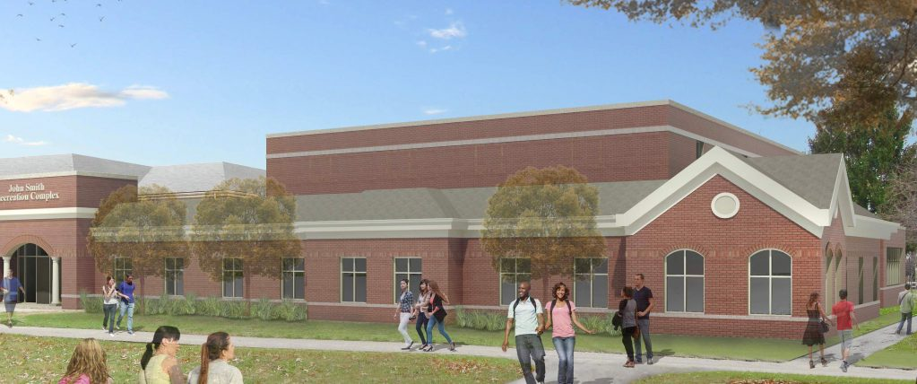capital campaign artist rendering of student center expansion