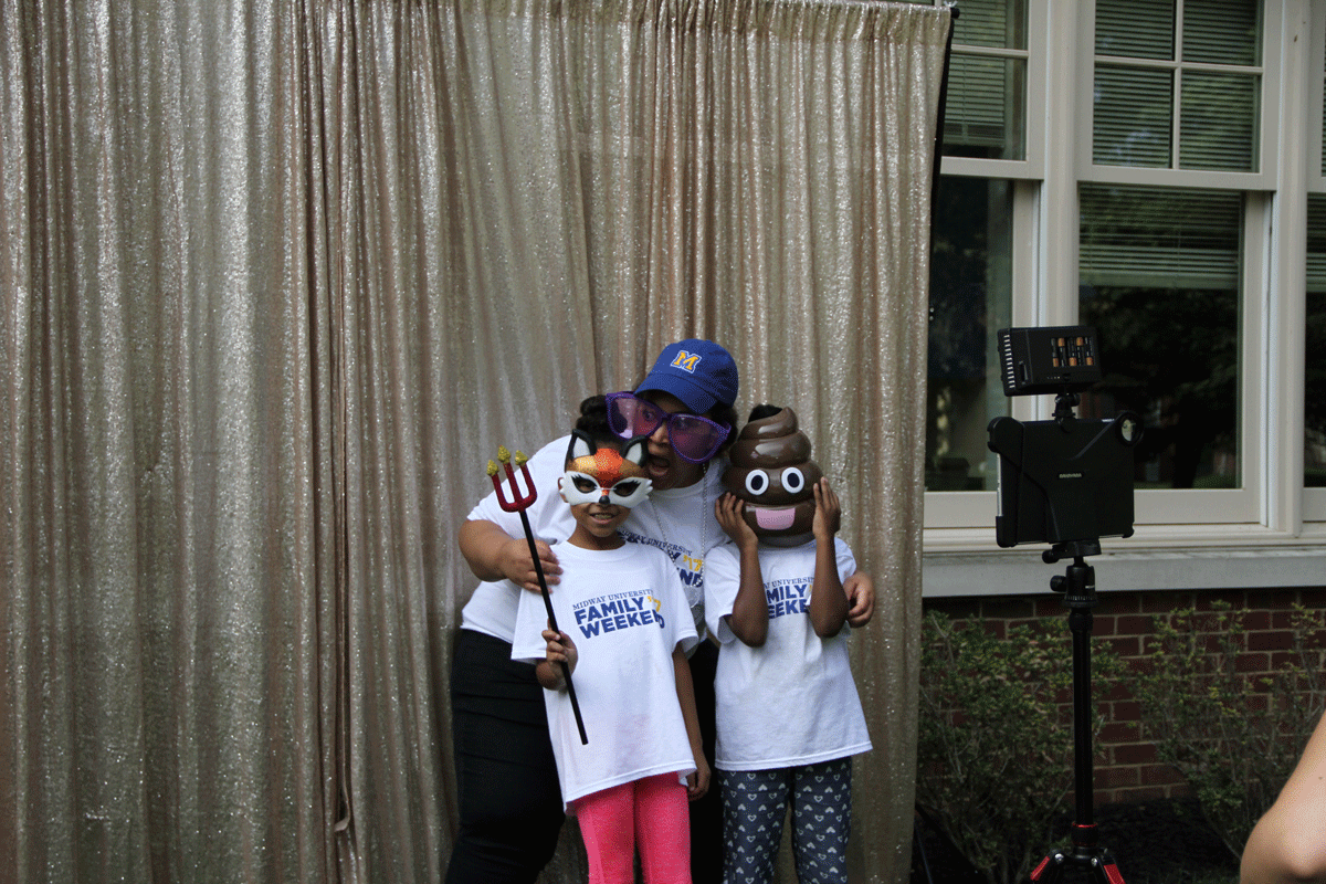 photo booth at midway university family weekend